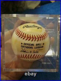 Mickey Mantle Autographed Baseball With COA