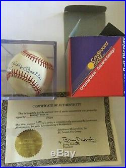 Mickey Mantle NY Yankees Signed Autographed Baseball In Case With COA
