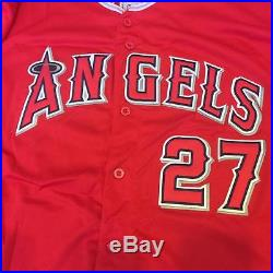 Mike Trout Signed Autographed Los Angeles Anaheim Angels Jersey With JSA COA