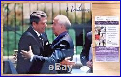 Mikhail Gorbachev Signed 8x10 Photo with President Ronald Reagan JSA COA Russia