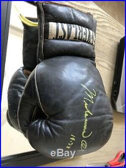 Muhammad Ali Signed 1978 Deer Lake Boxing Glove With COA Josportsinc Vtg Rare