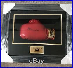 Muhammad Ali Signed And Framed Boxing Glove With COA