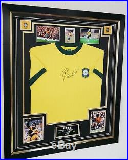 NEW STUNNING PELE of BRAZIL Signed Shirt Autographed Jersey Display WITH COA