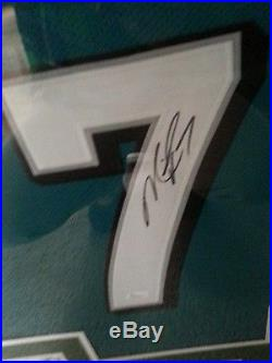 NICE FRAMED Autographed Eagles Michael Vick Jersey With Photos JSA COA SWEET