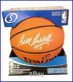 Nba Bill Russell Hand Signed Autographed Spalding Basketball With Coa Very Rare