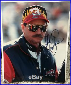OUTSTANDING DALE EARNHARDT SR. AUTOGRAPHED 8x10 PHOTO-HIGH QUALITY with COA