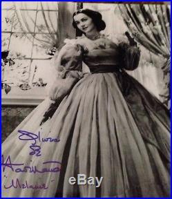 Olivia Dehavilland De Havilland Gone With Wind SIGNED Photo Autograph GA COA Mel