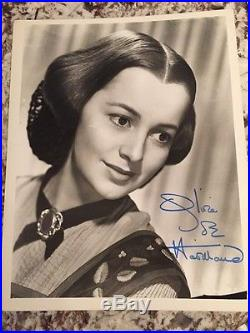 Olivia Dehavilland SIGNED PHOTO COA PSA PSA/DNA De Havilland Gone With The Wind