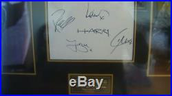 One Direction Hand Signed By All 5 Original Members Picture Display with COA