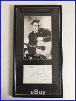 Original Elvis Presley Signed Postcard Framed Autograph with Frasers' COA