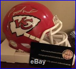 PATRICK MAHOMES Mini Riddell SPEED Autographed Signed HELMET With COA New in Box