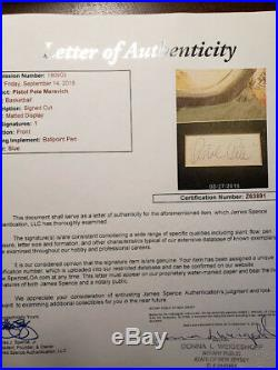 PETE MARAVICH JSA Coa Autograph Cut With Photo Hand Signed Authentic