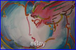 PETER MAX I LOVE THE WORLD LIMITED EDITION SERIGRAPH with COA #271 of 300