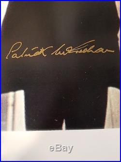Patrick McGoohan The Prisoner SIGNED 14 x 11 Photo with COA