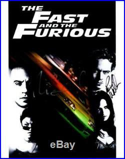 Paul Walker Vin Diesel 11x14 Autographed Photo Picture signed Pic with COA
