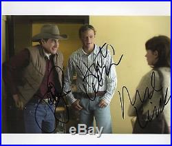 Photo signed HEATH LEDGER, Jake Gyllenhaal and Michelle Williams with COA