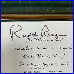 President Ronald Reagan Signed 1976 On To Victory Invitation With JSA COA RARE