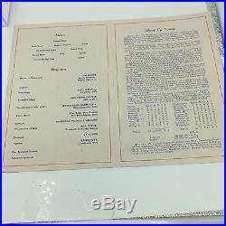 Rare 1947 Cy Young Signed Autographed Birthday Program With JSA COA