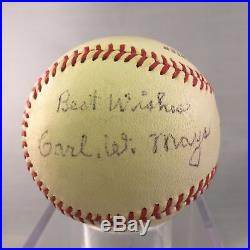 Rare Carl Mays Single Signed Autographed Baseball With JSA COA 1923 NY Yankees