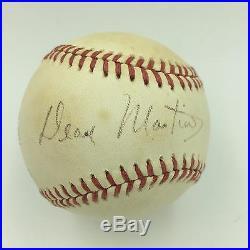 Rare Dean Martin Single Signed Autographed Baseball With PSA DNA COA
