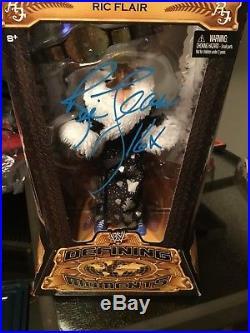 Ric Flair Autograph Figure BLUE SHARPIE! With COA