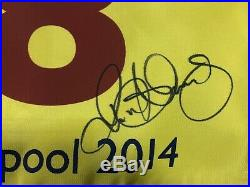 Rory Mcilroy Hand Signed Winning Open Golf Pin Flag 2014 With Coa