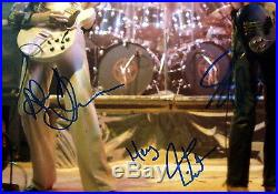 Rush Band Signed Autographed In-person Oversized Concert Photo With Proof & Coa