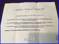 SCARLETT JOHANSSON/ BLACK WIDOW Signed With COA