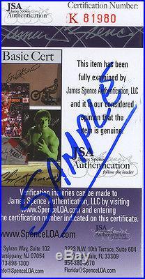 (SSG) JOE MONTANA & DAN MARINO Signed 8X10 Color Photo with UDA and a JSA COA