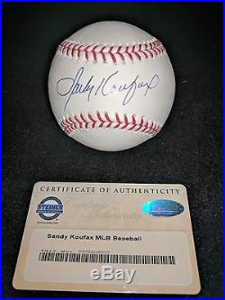 Sandy Koufax Autographed Baseball with COA Mint Condition. Hologram available