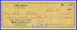 Shemp Howard Rare 3 Stooges Hand Signed Check With Coa From His Granddaughter