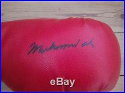 Signed Muhammad Ali Boxing Glove with COA AFTAL