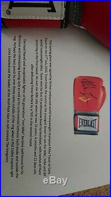 Signed mike tyson glove (with COA)