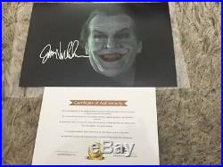Signed photo of Jack nicholson as the joker from batman with COA