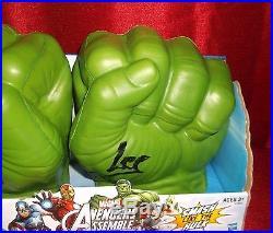 Stan Lee Hand Signed Hulk Hand Glove Fist With Hologram Coa Avengers