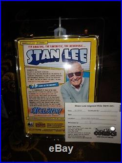 Stan Lee Retro 8 Inch Action Figure Autographed With COA