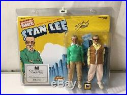 Stan Lee Retro 8 Inch Action Figure Two-Pack Autographed With COA #59