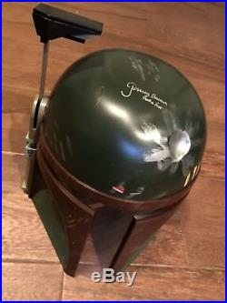 Star Wars Boba Fett Helmet Signed By Jeremy Bulloch With COA And Photo Proof