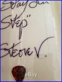 Stevie Ray Vaughan autograph Mega Rare Alcohol Anon book with Guitar Pick COA