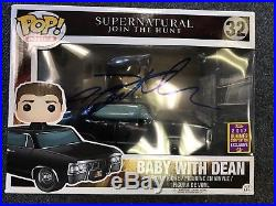 Supernatural Jensen Ackles Dean with Baby Funko Pop Autographed Signed COA #3