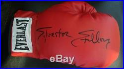 Sylvester Stallone Hand Signed Boxing Glove Red Everlast Rocky Balboa With COA