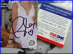TAYLOR SWIFT signed psa/dna COA guitar pick set with 3x5 photo autograph auto