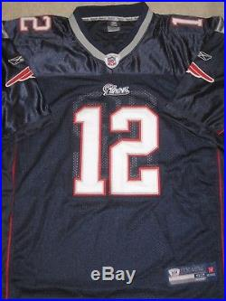 TOM BRADY Signed Patriots Reebok Jersey with MM Hologram and COA Autograph