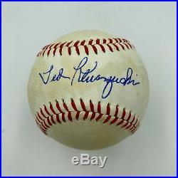 Ted Kluszewski Single Signed Autographed Baseball With JSA COA