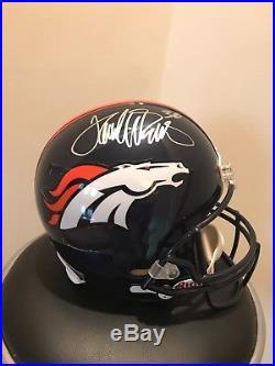 Terrell Davis Autographed Denver Broncos Full Size Helmet With COA