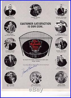 Terry Sawchuk Signed Detroit Redwings Program Jsa Coa With Gordie Howe Autograph