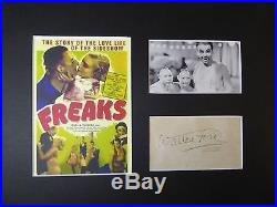 Tod Browning's Freaks Wallace Ford Rare Signed Autograph Display With Coa