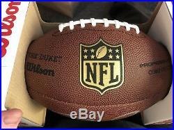 Tom Brady Autographed NFL Replica The Duke Football Comes With COA Patriots 3