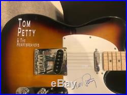 Tom Petty signed Sunburst Telecaster Style autographed Guitar with COA