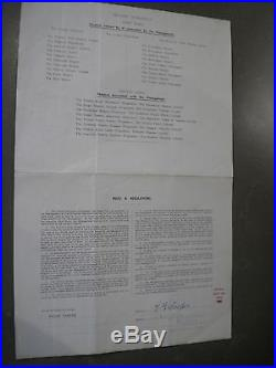 Tommy Cooper rare Signed Palladium contract from 1952 with COA